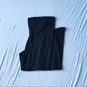 Black Asymmetrical Strapless Dress
